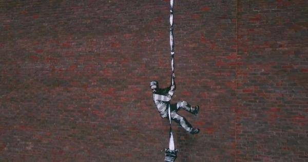 Watch: Banksy's creative video confirms he's behind powerful artwork on the wall of a British jail