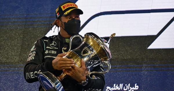Formula One: Lewis Hamilton resists Max Verstappen's challenge to win thrilling Bahrain GP