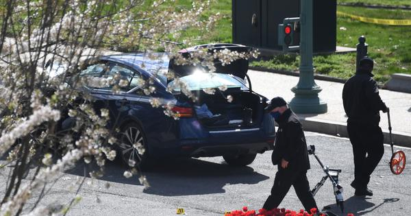 US: Police officer killed after car rams into barricade at Capitol building, suspect shot dead