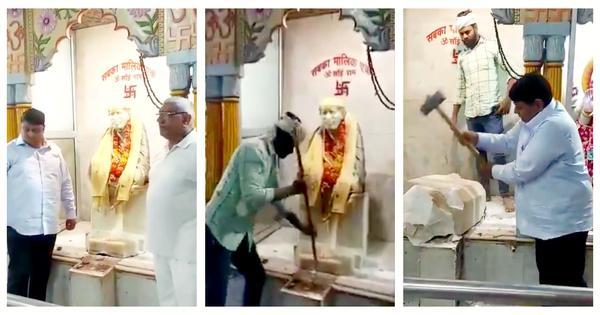 Labelled 'jihadi', Sai Baba's idol demolished in Delhi. Hindu hardliner exults. Devotees despair