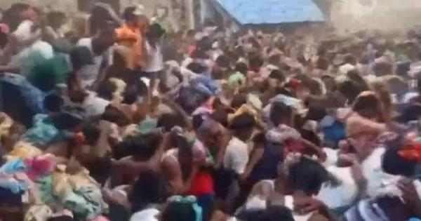 Covid norms violation: Crowds hurl cowdung cakes at one another as part of Ugadi rituals