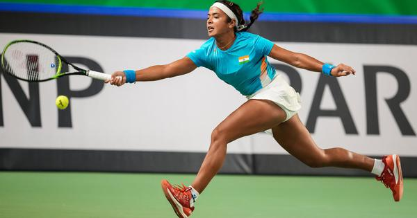 Billie Jean King Cup: Ankita Raina goes down fighting to Jelena Ostapenko as India trail 0-2