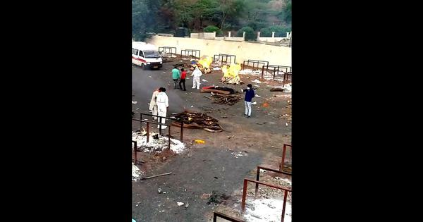 Covid-19: Photojournalist reports 45 pyres burning simultaneously in Bhopal crematorium