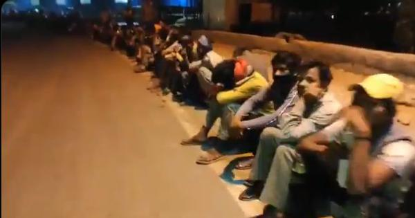 Watch: Migrant workers thronged inter-state bus stand in New Delhi before lockdown announcement