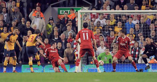 Watch: When Andrey Arshavin scored four at Anfield for Arsenal versus Liverpool in an epic 4-4 draw
