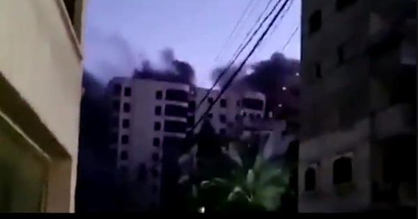 Watch: Israel airstrike destroys 13-storey residential building in Gaza