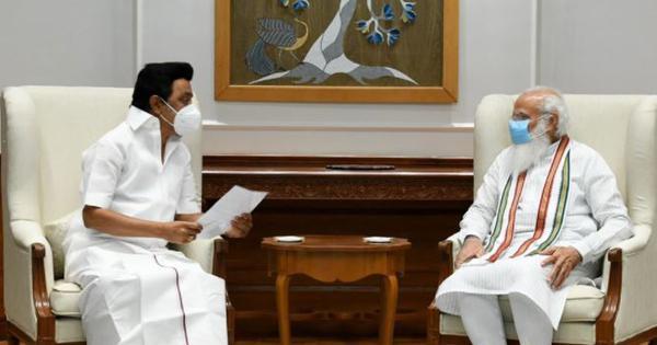 Tamil Nadu CM MK Stalin meets Modi, gives him memorandum with 25 demands