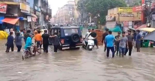 Watch: Varanasi's streets are waterlogged after heavy rain