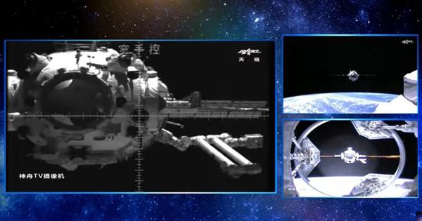 Watch: China's Shenzhou-12 spacecraft docks with the new Tianhe space station module