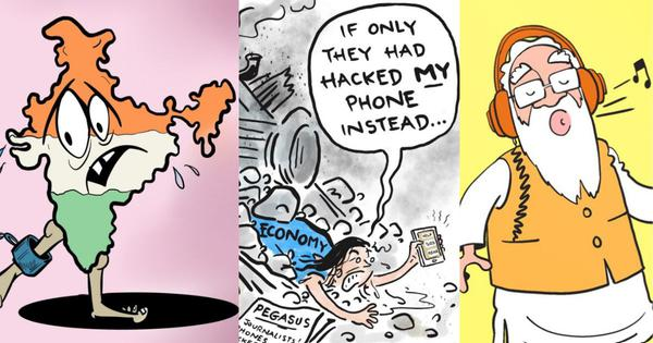 Modi doesn't have press meets because he knows your 'Mann ki Baat': Cartoons on Pegasus report