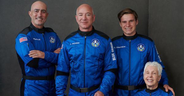 'Best day ever': Billionaire Jeff Bezos blasts into space on own rocket