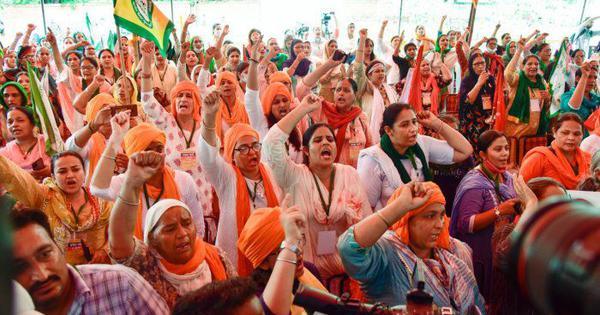 Nearly 200 women farmers protest at Jantar Mantar, demand 33% representation in Parliament