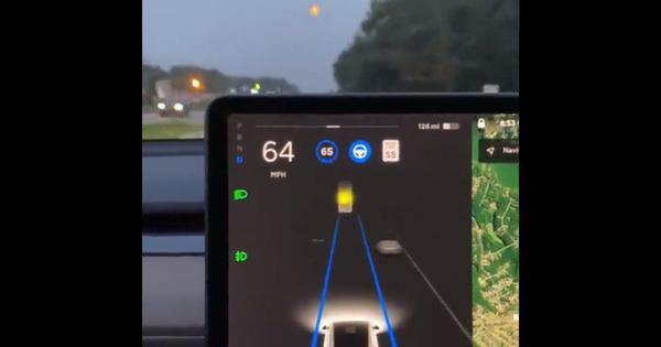 Watch: Did this self-driving Tesla car confuse the moon for a traffic light and slow down?