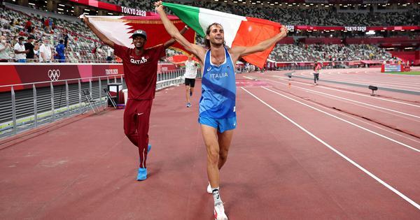 Tokyo 2020, athletics: Barshim, Tamberi share high jump gold in emotional moment after injury return