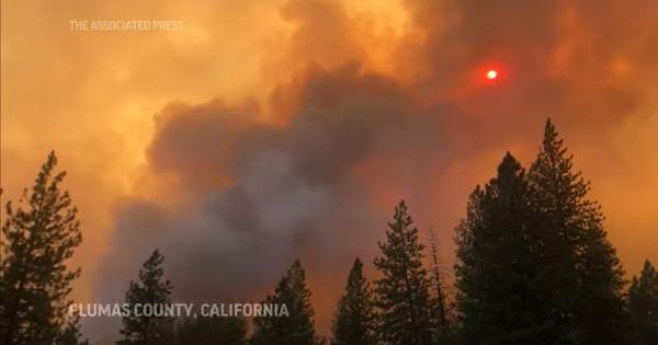 Watch: California's massive wildfire erupts again, sending towering plumes of smoke
