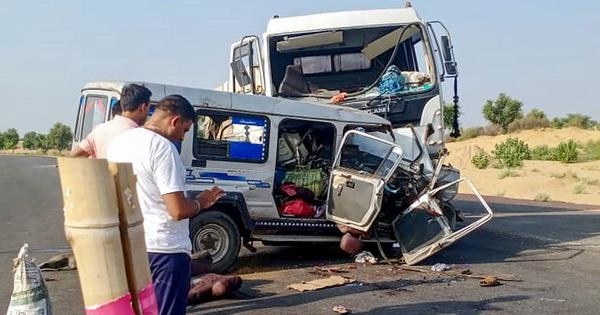 Rajasthan: 12 pilgrims killed, six injured in road accident