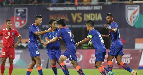 Football: Anirudh Thapa's goal rescues India as Blue Tigers struggle in 1-1 draw against Nepal