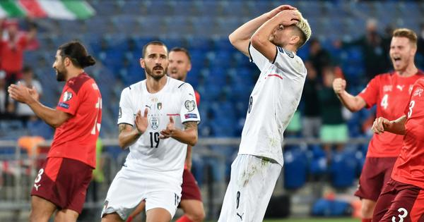 World Cup qualifiers: Italy set new record in goalless draw against Switzerland, Germany win big