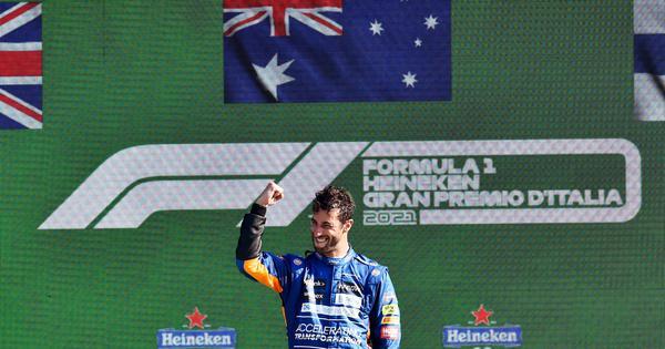 Italian GP: Daniel Ricciardo leads a McLaren 1-2; Lewis Hamilton, Max Verstappen involved in crash