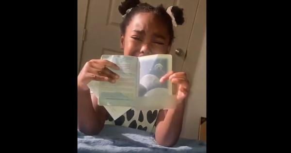 Watch: Young girl cries uncontrollably because she thinks her mother is an alien