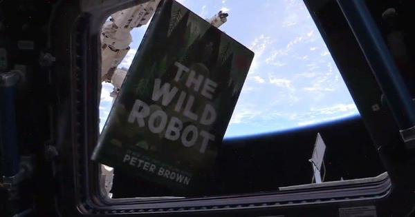 Watch: Astronaut reads excerpt from the book 'The Wild Robot' from the International Space Station