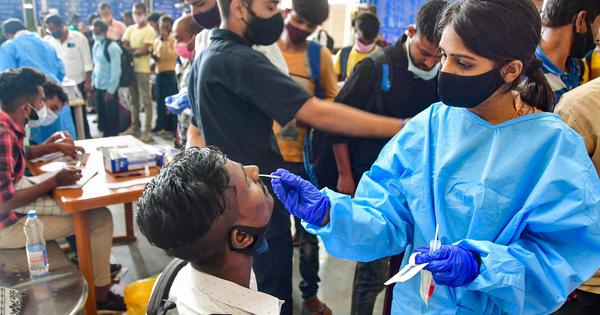 Covid: India reports 18,987 new infections over 24 hours, active cases fall by 1,067 cases