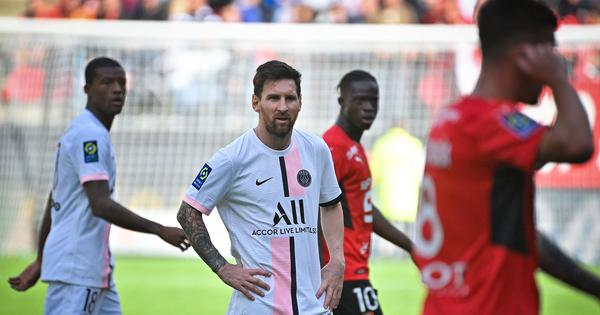 Ligue 1: Messi suffers first loss as PSG player as Rennes end their eight-match winning streak