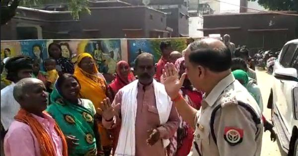 Caught on camera: In UP, Azamgarh SP abuses, hits man demanding action in minor's rape case