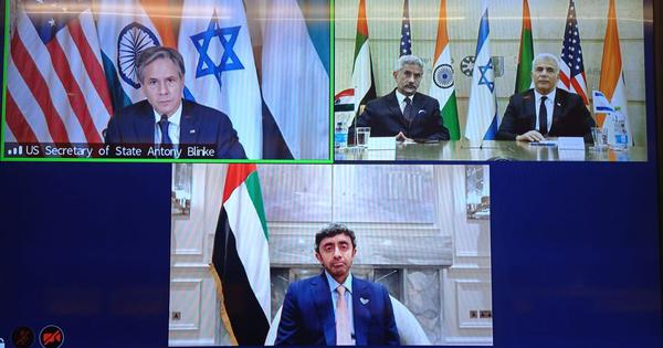 India takes part in first quadrilateral meeting with US, Israel, UAE