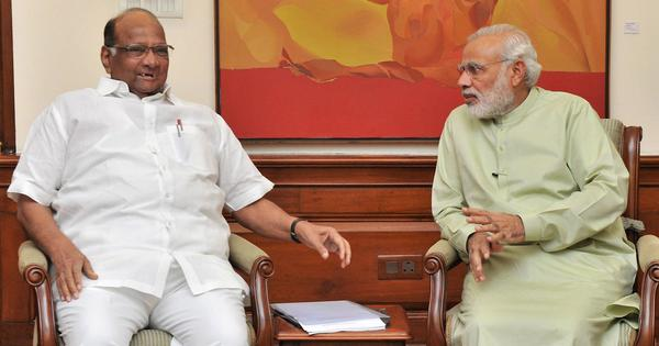 Maharashtra logjam: NCP chief Sharad Pawar meets PM Modi, asks him to intervene in farmers' crisis