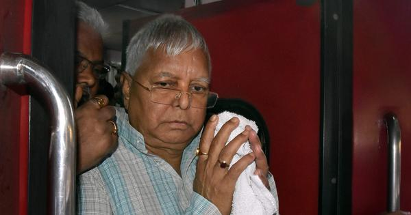 Jailed RJD chief Lalu Yadav likely to be moved to AIIMS Delhi as health deteriorates, say reports