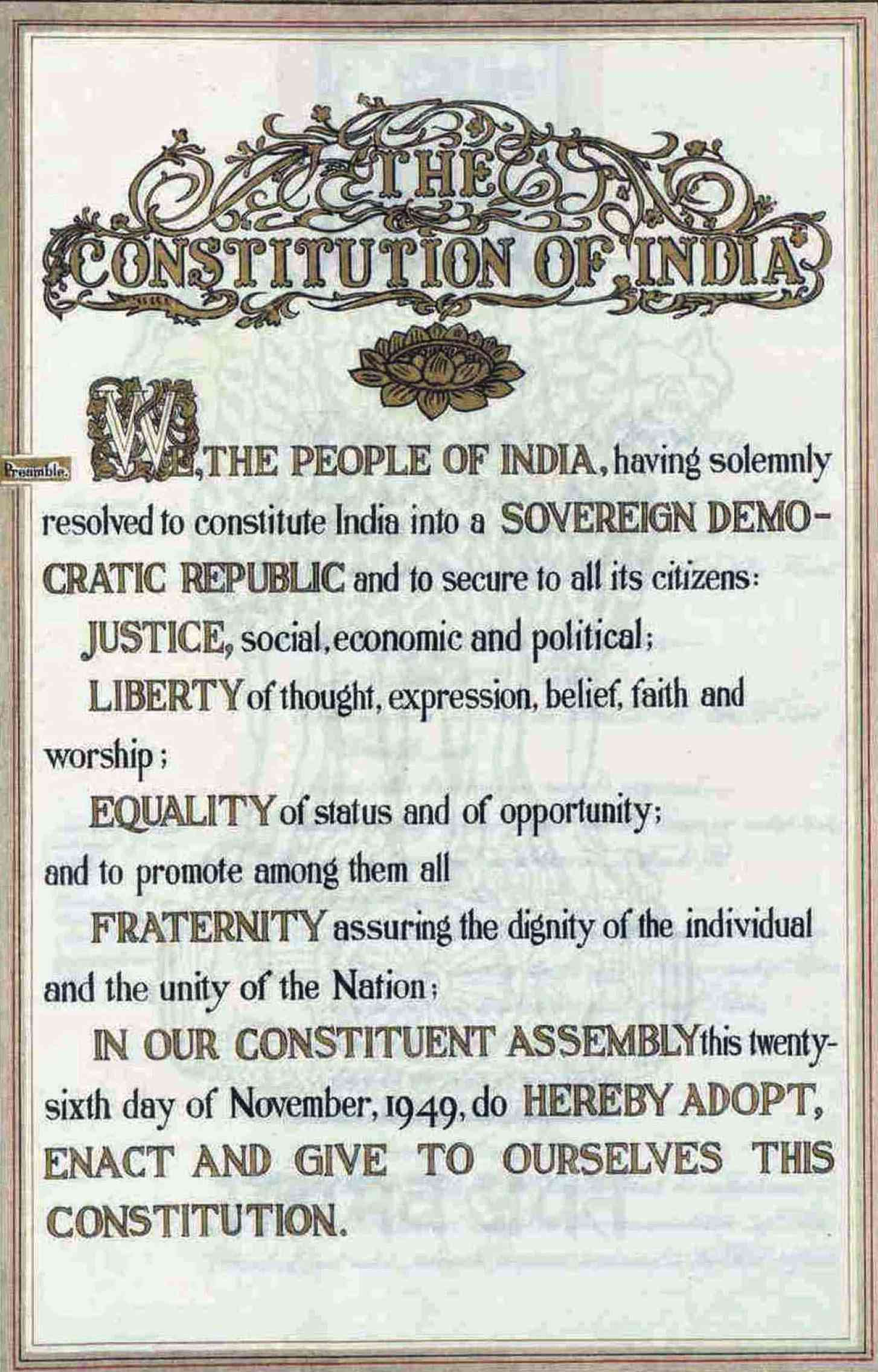 Who Wrote The Preamble To The Constitution  That Is One Of