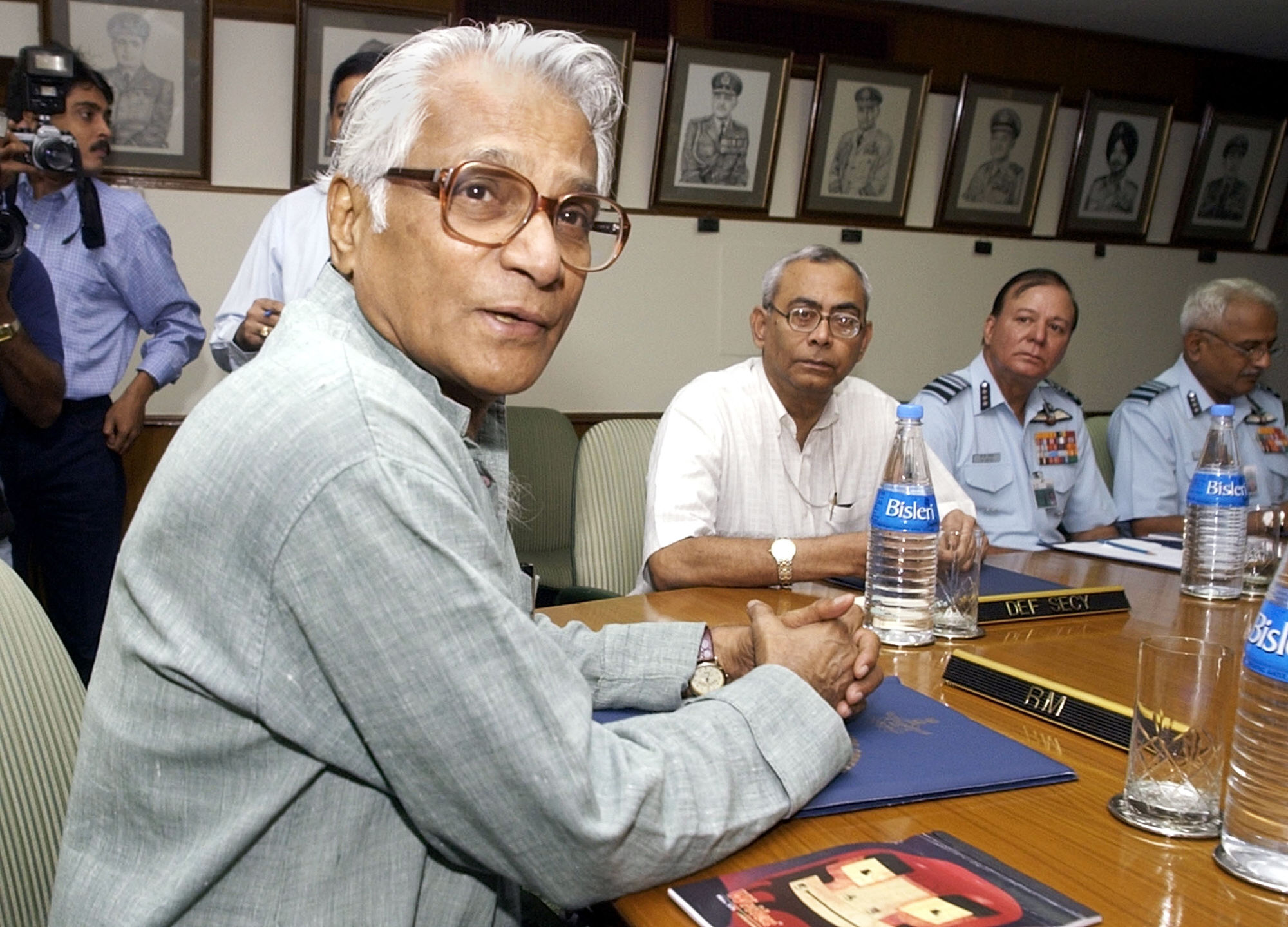 At the India Air Force Commanders' conference in New Delhi 21 October 2002. Image: AFP