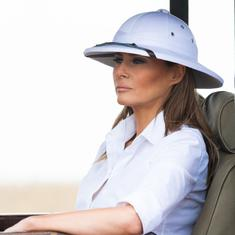 Why did Melania Trump wear a pith helmet, a classic symbol of colonialism, in Africa?