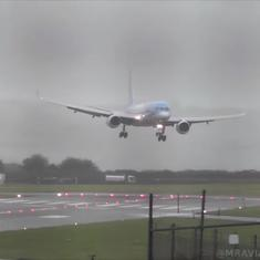 Watch: Pilot executes an incredible sideways landing of plane caught in storm winds