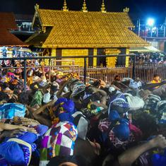 Sabarimala: Four women forced to abandon trek to shrine amid protests