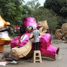 In pictures: Ravana effigies are a source of livelihood for these craftsmen in Delhi