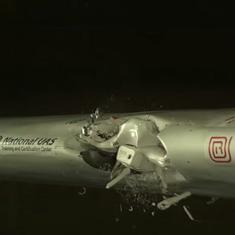 Watch: This is what happens when a drone collides with an aeroplane. It is not pretty