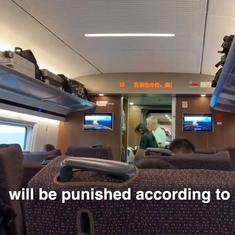 Watch: In China, announcement on a train warns citizens to behave or risk losing their credit score