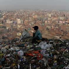 Photos: Burning mounds of garbage at Delhi's Bhalswa landfill exacerbate air pollution crisis in NCR