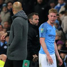 League Cup: Kevin De Bruyne injury scare mars Manchester City's 2-0 win over Fulham