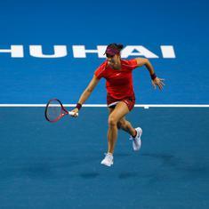 WTA Elite Trophy: Garcia out of SF reckoning despite straight-sets win over Sabalenka