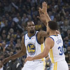 NBA: Golden State Warriors' trio Durant, Curry and Green fined for referee criticism