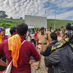 Hindutva organisations are using an incantation to Ayyappa as a political slogan at Sabarimala