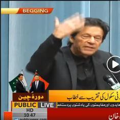 'Live from Begging': Pakistan broadcaster misspells Beijing on live footage of Imran Khan's speech