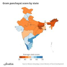 In maps: How India's states compare when it comes to rural development