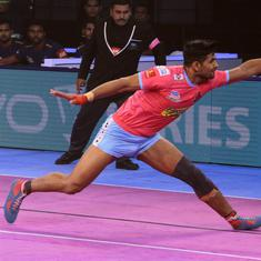 Pro Kabaddi: Jaipur Pink Panthers stop four-match losing streak, defeat Haryana Steelers 38-32