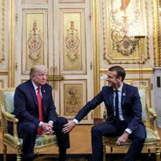 Paris: Trump and Macron meet amid tension over French president's comments on European security