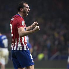 Injured Diego Godin scores 91st-minute winner to help Atletico Madrid beat Athletic Bilbao 3-2