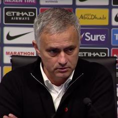 'I think we won't be relegated': Watch Mourinho snap at journalist after Manchester derby defeat